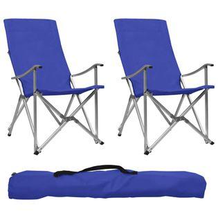 Składane Krzesła Turystyczne, 2 Szt., Niebieskie