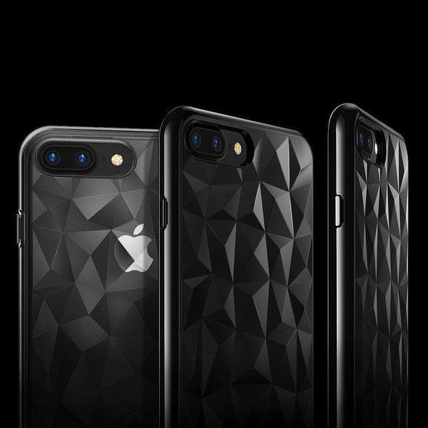 Ringke Air Prism Designerskie Żelowe Etui Pokrowiec 3D Iphone 8 Plus / 7 Plus Szary (Apap0008) zdjęcie 8
