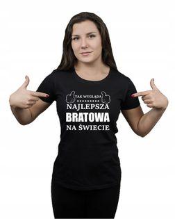 Koszulka damska NAJLEPSZA BRATOWA NA ŚWIECIE M