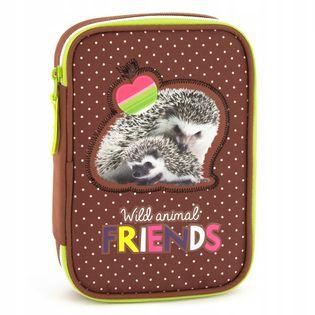 Hedgehog Jeż jeżyk piórnik 4 ścianki duży 6865