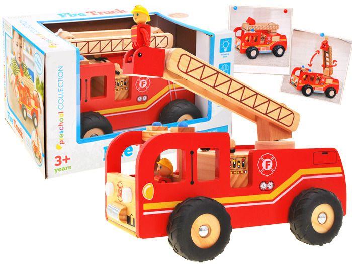 WIELKA Straż Pożarna wóz strażacki DREWNO ZA1809 zdjęcie 1