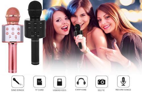 Mikrofon bezprzewodowy Bluetooth Głośnik Karaoke RÓŻOWY G242R na Arena.pl