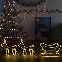 VidaXL Świąteczna dekoracja renifery z saniami, 576 diod LED