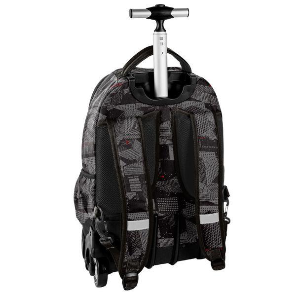 7dfef4666056b Szkolny plecak na kółkach Paso, czarny w szary wzór • Arena.pl