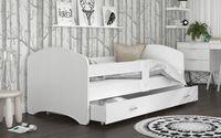Łóżko 180x90 LUKI BIEL szuflada + materac