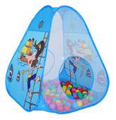 Zestaw domek namiot suchy basen kojec + 100 piłek RÓŻOWY NIEBIESKI