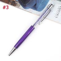 Długopis Z Kryształkami - Biurowy - Szkolny Filoletowy Niebieski