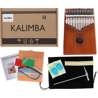 Drewniana Kalimba zazna pianino 17 klawiszy W-17T-1 brązowa