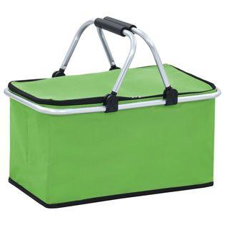 Lumarko Składana torba termiczna, zielona, 46x27x23 cm, aluminium!
