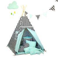 Namiot tipi dla dziecka Miętowy Szyk - zestaw mini