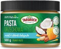 Targroch Pasta Orzechowa 100% naturalna 500g Miód + wiórki kokosowe