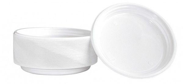 Talerz Plastikowy Office Products, Śr. 22Cm, 100 Szt., Biały