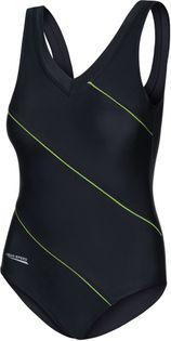 Kostium pływacki SOPHIE Roz.48-54 Rozmiar - Stroje damskie - 50(5XL), Kolor - Stroje damskie - Sophie - 01 - czarny / zielony piping