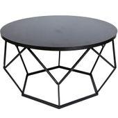 Nowoczesny stolik kawowy geometryczny Diament w kolorze czarnym 70 cm