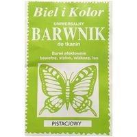 Barwnik do tkanin farba z motylem PISTACJOWY