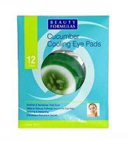 Beauty Formulas Clear Skin Cucumber Cooling Eye Pads Ogórkowe Chłodzące Płatki Na Oczy 12Szt.