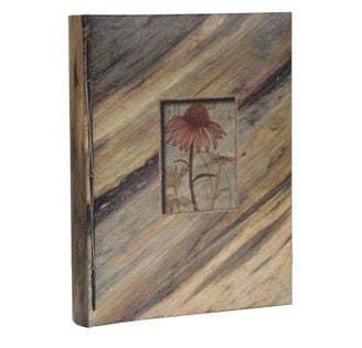 ALBUM, albumy na zdjęcia szyty 300 zdjęć 10x15 cm opis LEAF deska skos