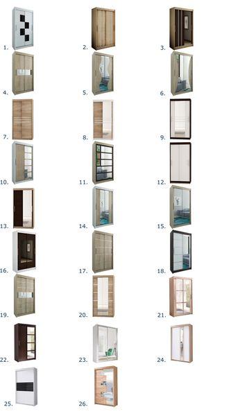Szafa przesuwna biała JARO 180 lustro RIBES zdjęcie 14