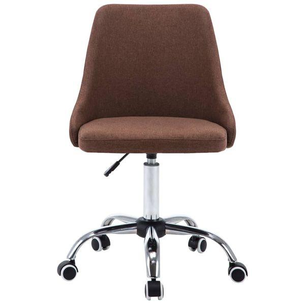 Krzesła Stołowe, 4 Szt., Brązowe, Tkanina zdjęcie 4