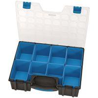 Draper Tools Organizer Z 8 Przegródkami, 41,5X33X11 Cm, Czarny