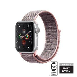 Crong Nylon Band - Pasek sportowy do Apple Watch 42/44 mm (Light Pink)