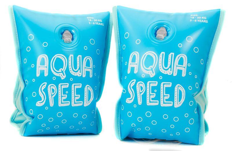 RĘKAWKI AQUA-SPEED PREMIUM Rozmiar - Akcesoria - Od 3 do 6 roku życia (waga od 18 do 30 kg), Kolor - Rękawki - Aqua-Speed Premium - 02 - niebieski zdjęcie 1