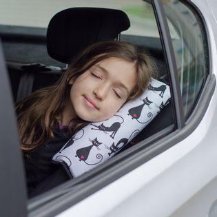 Poduszka i Nakładka na pas bezpieczeństwa 2w1