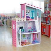 Drewniany domek dla lalek Oliwka #ZZ2