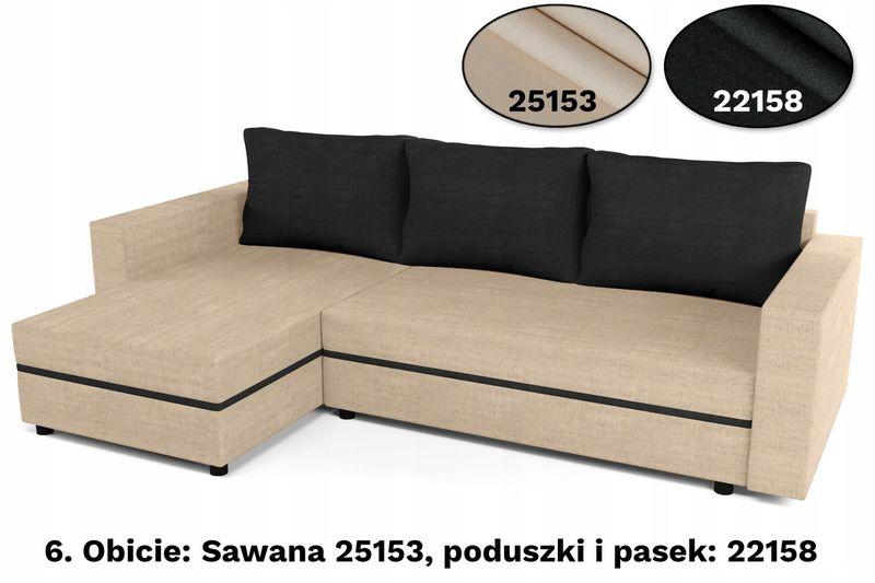 Narożnik rozkładany  WIZARDI sofa,kanapa,łóżko :) zdjęcie 4