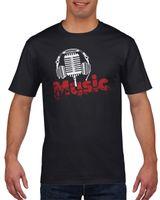 Koszulka męska Muzyka XXL Czarny