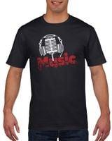 Koszulka męska Muzyka M Czarny
