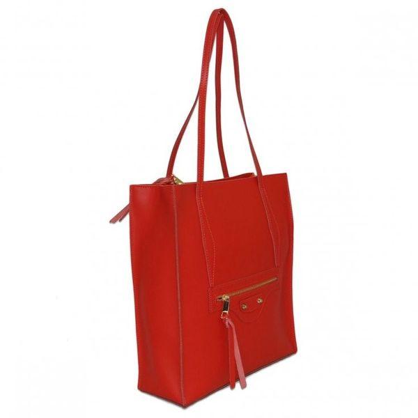 5a5f81ddb1af2 Borse in Pelle torebka damska skórzana shopper czerwona na ramię zdjęcie 2