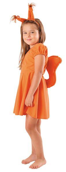 """Strój """"Wiewiórka sukienka"""" roz. 122/128 zdjęcie 1"""