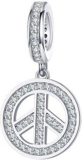 Charms Srebro - PEACE, Pokój, Pojednanie