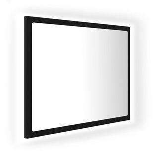 Lumarko Lustro łazienkowe z LED, czarne, 60x8,5x37 cm, płyta wiórowa!