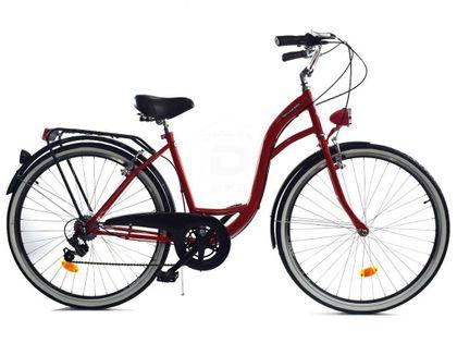 """Rower Dallas City 26"""" 7spd - czerwony z czarnym"""