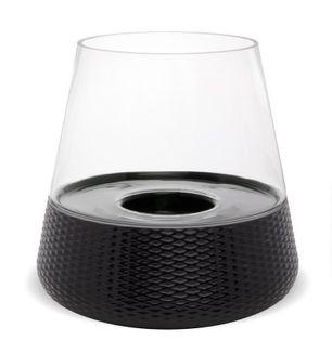Lampion Stożek okrągły szklany 30,5x30x30 cm