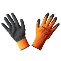 Rękawice Robocze, Poliester Pokryty Nitrylem (Sandy),4131X, Rozmiar 8