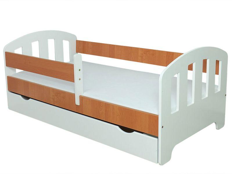 Łóżko FIFI 140x80 + szuflada + barierka zabezpieczająca + MATERAC zdjęcie 13