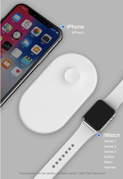 Baseus Ładowarka Indukcyjna iPhone Apple Watch 2w1