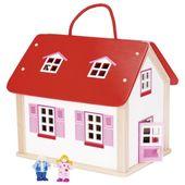 Domek dla lalek w walizce z mebelkami