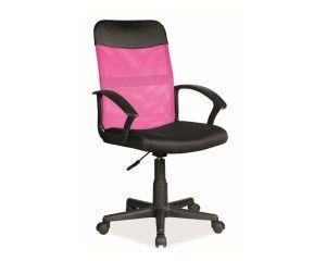 Fotel do biurka Q-702 dla dziecka RÓŻOWY