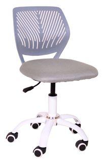Krzesło obrotowe dla dziecka szary kółka do paneli