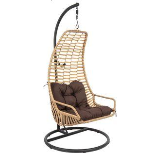 Huśtawka fotel wiszący kokon Slack brązowy czarny