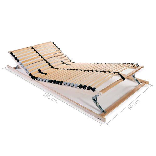 Stelaż Do łóżka Z 28 Listwami Drewno Fsc 7 Stref 90 X 200 Cm Gxp 680211