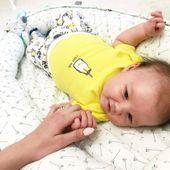 Dwustronny Kokon niemowlęcy Paprocie zdjęcie 3