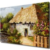 Obraz Na Ścianę 100X70 Wiejski Domek Wiejski Dome