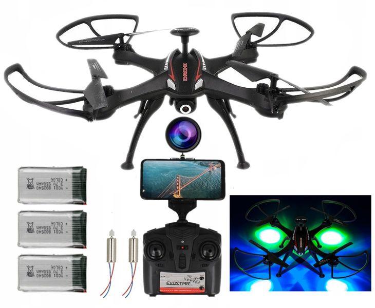 DRON EVOSTAR Explorer RQ77-14W z Kamerą WiFi 6Axis 3Aku Czarny Z25C zdjęcie 13