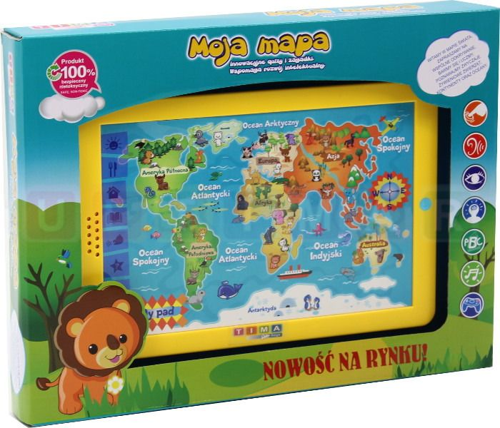 Mapa świata - edukacyjny tablet dla dzieci – język polski zdjęcie 8