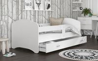 Łóżko 180x90 LUCKY BIEL szuflada na prowadnicy